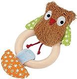 Kathe Kruse - Alba The Owl Plush Rattle with Wooden