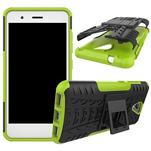 OFU®Para ZTE Blade A510 5.0 Smartphone, Híbrido caja de la armadura para el teléfono ZTE Blade A510 5.0 resistente a prueba de golpes contra la lucha de viaje accesorios esenciales del teléfono-nara verde