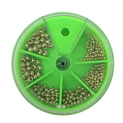 Creative Angler Bead Box for Fly Tying or Tying Flies. Total of 350 Fly Tying Beads (Gold) ()