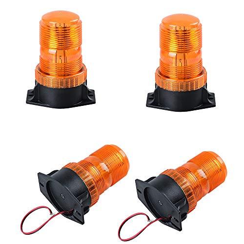 Amber/Yellow 30W 30 LEDS Amber Emergency Warning Flashing Safety Strobe Beacon Light for Forklift Truck Tractor Golf Carts UTV Car Bus (4PCS) ()