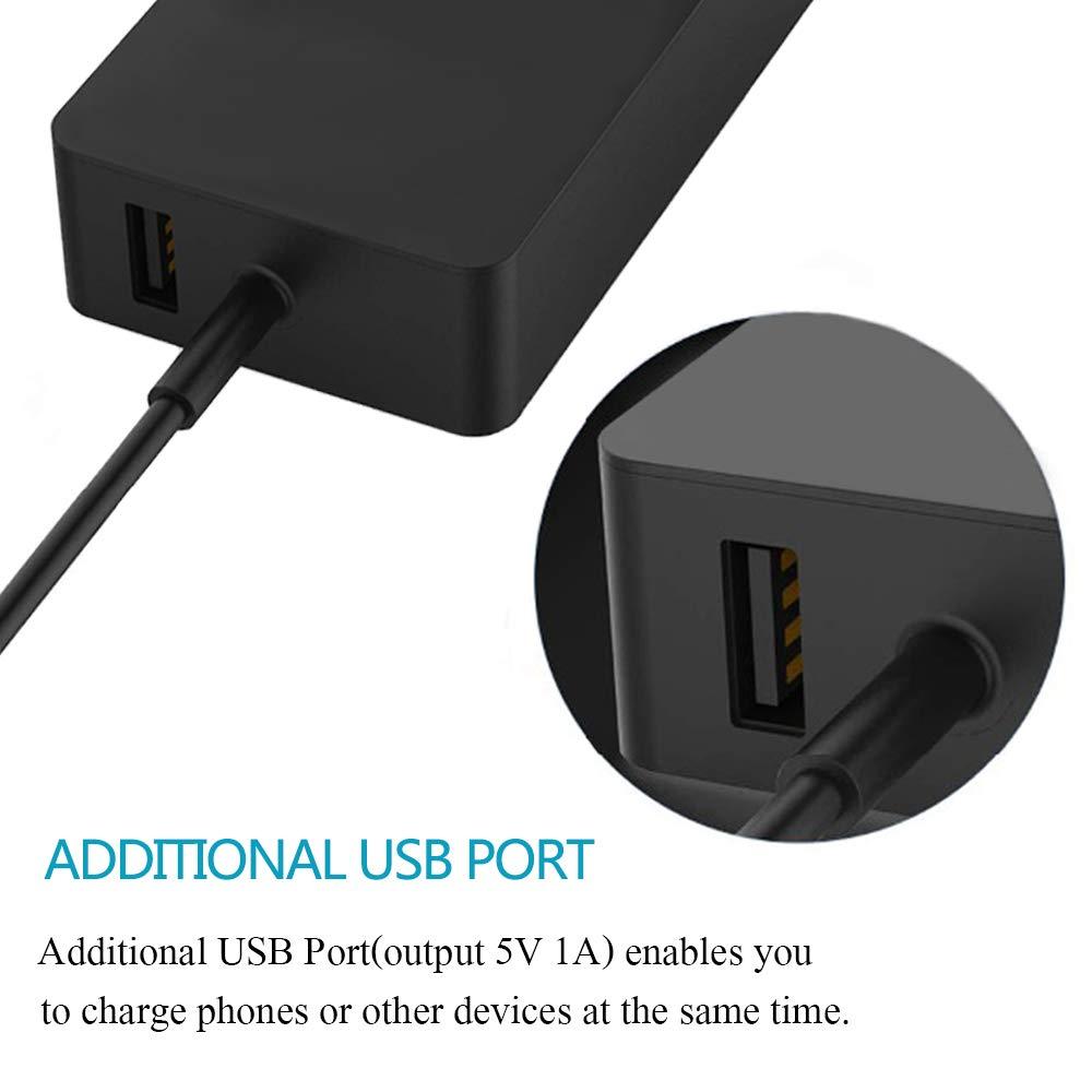 XITAI 48W 12V 3.6A 1536 Alimentatore Caricabatterie di Ricambio per Microsoft Surface RT Pro//Pro 2 10.6 Windows 8 Tablet Porta di carica USB
