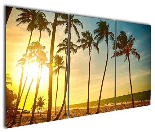 Gardenia Art Palms on Beach Under Sunshine Canvas Wall Art ...