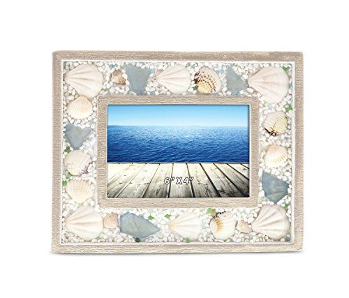 CoTa Global Oceanic Sea Shell Photo Frame - 4 inch x 6 inch - Nautical Decor - Item #9170 by CoTa Global