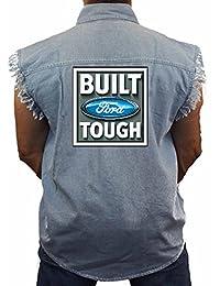 Juiceclouds | Ford Sleeveless Denim Vest Built Tough M-5XL