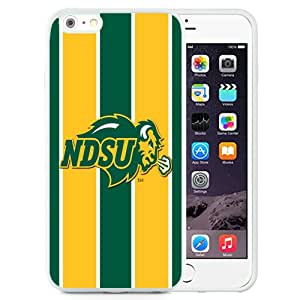 Fashionable And Unique Designed With NCAA Big Sky Conference Football North Dakota 6 Protective Cell Phone Hardshell Cover Case For iPhone 6 Plus 5.5 Inch White