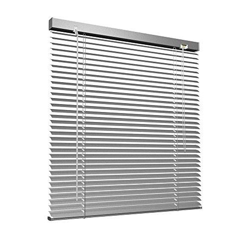 Aluminium Jalousie, 100 x 130 cm, silber, VICTORIA M - Jalousie ohne Bohren, inkl. Klemmclips