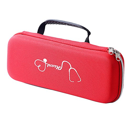 Carry Case Storage Bag Protect Pouch Sleeve Box Case for 3M Littmann Classic III Stethoscope.Fits Prestige Taylor Percussion Hammer and Nurse LED Medical Penlight #81273 (Red)