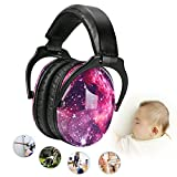 Noise Cancelling Headphones for Kids Hearing Protection with Travel Bag Adjustable Protector Noise Reduction Ear Muffs For Children,Junior,Babies,Infants purple