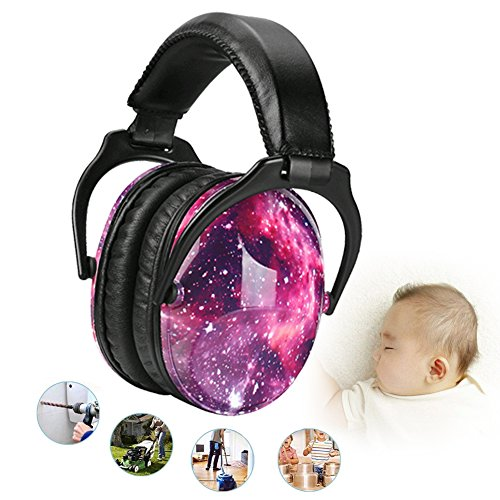 Noise Cancelling Headphones for Kids Hearing Protection with Travel Bag Adjustable Protector Noise Reduction Ear Muffs For Children,Junior,Babies,Infants purple by GAMT (Image #1)