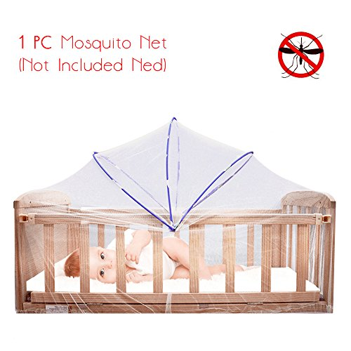 Foldable Baby Crib Mosquito Net - Summer Play Tent Infant Nursery Bed Playpen Netting Cover,Safety Arch Playtent House Netting Canopy,for Protecting Kids From Biting By Mosquitoes And ()