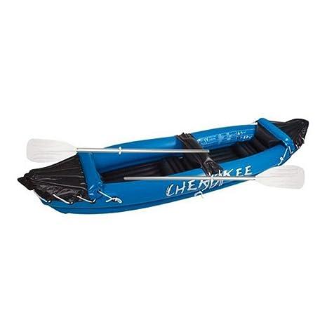 Canoe Kayak hinchable 2 personas con remo Cherokee Sport: Amazon ...
