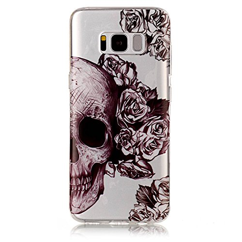- Jewby Galaxy S8 Case Soft, High-clear Cute Pattern Case for Samsung Galaxy S8 with a Free Screen Protector (Skull)
