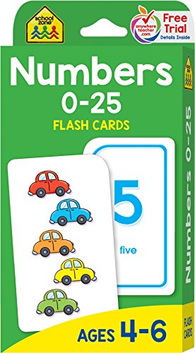 : Numbers 0-25 Flash Cards