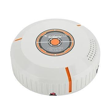 Robot Aspirador, Robot de Limpieza para Suelos Robot Inteligente Automático Aspirador Limpiador de Piso Barrido Succión Máquina de Barrido Robot (White): ...