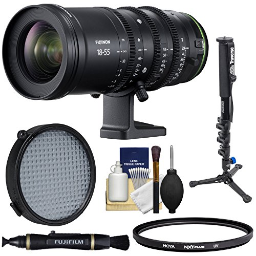 Fujifilm 18-55mm T/2.9 MKX Cinema Zoom Lens with Filters + Monopod + Kit