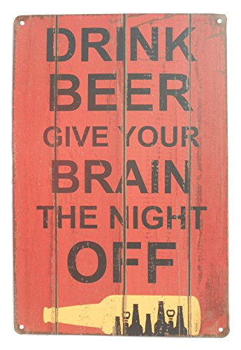 Strosportsandtech Beer Alcohol Drinking Funny Tin Sign - Funny Food Signs