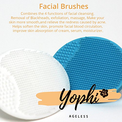 Yophi Premium Silicone Facial Cupping Therapy Set - Anti-Aging Eye, Face, Neck & Body - Forget About Wrinkles, Fine Lines & Cellulite - Silk Bag, Jade Stone, Brushes, Gift Box & E-book Included! by Yophi (Image #2)