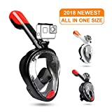 DasMeer Full Face Snorkel Mask Foldable Snorkeling Mask Compatible with Detachable GoPro Mount