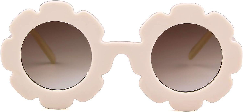Sunglasses for Kids Round Flower Cute Glasses UV 400 Protection...