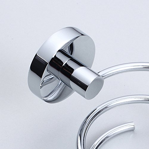 Leyden Contemporary Spiral Shape 304 Stainless Steel Material Chrome Finish Silver Hair Dryer Holder durable service
