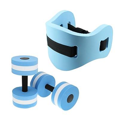 gazechimp Kit de aquagym pesa con cinturón flotante natación juguete de piscina Gym