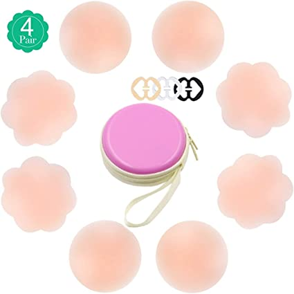 c789c8e107e31 Image Unavailable. Image not available for. Color  YELO 4 Pairs Silicone  Women s Pasties