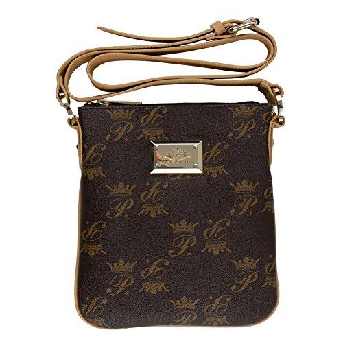 Paris Hilton Handbags - Stylish Brown & Tan Small Shoulder Bag