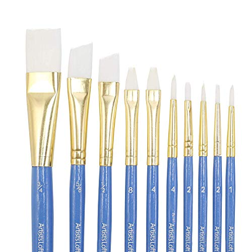 Synthetic Paint Brush Set by Artist's Loft, 10 Assorted Size Pieces, All ()