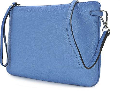 GIANNI CHIARINI - Cartera de mano para mujer beige azul