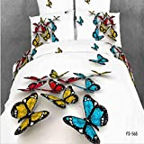 1800 Luxury Bedding Collection Cartoon 3D Painting Prints 4 Piece Bed Sheet Set 100% Cotton Durable Assorted Colors Duvet Cover Flat Sheets Pillowcases Size Full , 8 , full