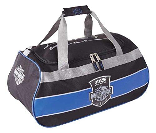 - Harley Davidson Logo Sport Duffel (115th Anniversary) Bag, Blue/Black, One Size