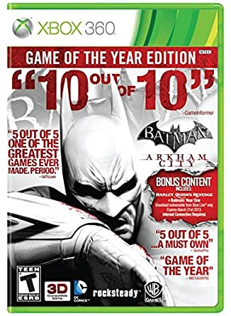 Jogo - Batman  Arkham City - Xbox 360  Amazon.com.br  Games 237f70e28eb