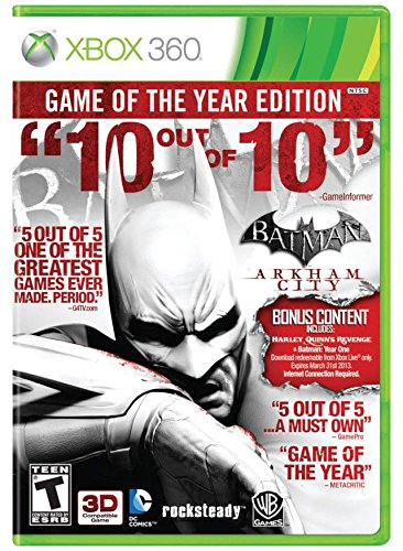 Batman: Arkham City - Game of the Year Edition (Best Xbox 360 Games)