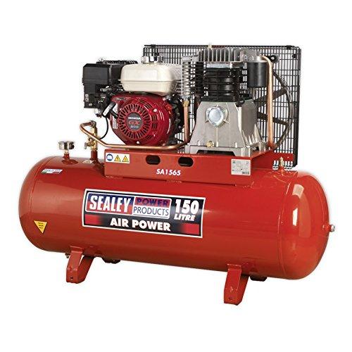 Sealey SA1565 Compressor 150ltr Belt Drive Petrol Engine 6.5hp: