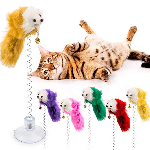 Tatuo 6 Pieces Cat Toys, Mouse Toys Cats, Furry Pet Cat Toys, Cat Teaser Wand Bell by Tatuo (Image #3)