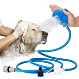 Westspark Pet Showerhead Massage Washing Sprayer kit, Dog Washing head Hose Indoor and Outdoor Pet Wand Portable Bath Brush Grooming Brush Tool for Cat Horse doggy poppy