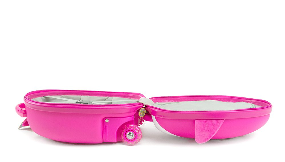 Cute Animal Travel Trolley Luggage for Kids - Pink Penguin by Kids Travel Boutique (Image #4)