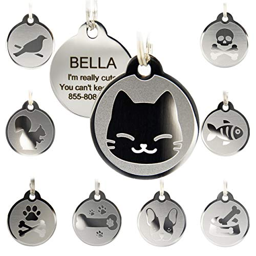 Custom Engraved Stainless Steel Pet ID Tags - Engraved Personalized Identification Durable & Long Lasting Dog Tags, Cat - Tags Engraved Id Cat