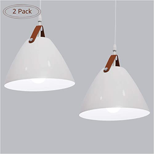 MINGYALL Pendant Light, Nordic Modern Minimalist Chandeliers Use E26, with Adjustable Cord for Kitchen Living Rooms Restaurant Cafes, etc 2 Pack