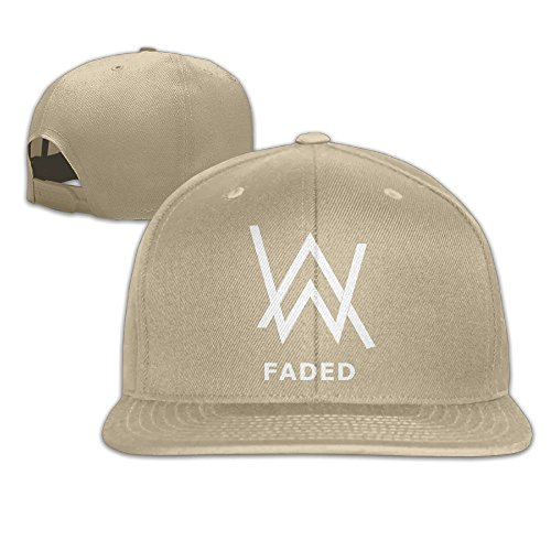 ATOPSHOP Alan Walker Logo Unisex Adults Cotton Snapback Hat Flat Baseball Cap
