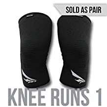 2nd Era Knee Runs 1 - Best Compression Knee Support Sleeves Brace Wraps - For Professional Elite Athletes: Running, Jogging, Bodybuilding, and Weight Lifting - Sold as Pair