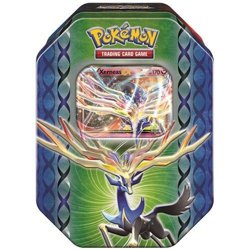 Pokemon TCG: Legends of Kalos Collector's Tin (Yveltal) | Collectible Trading Card Set | Includes 4 Booster Packs, 1 Ultra Rare Foil Yveltal-EX Card Plus Bonus Online Code Card