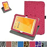 "Acer Iconia One 10 B3-A20 Rotating Case,Mama Mouth 360 Degree Rotary Stand With Cute Lovely Pattern Cover For 10.1"" Acer Iconia One 10 B3-A20 Android Tablet,Rose Red"