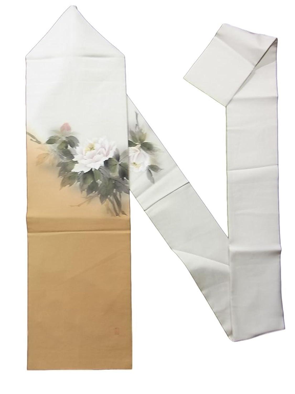 リサイクル 名古屋帯 ボタンの花 正絹 お太鼓柄 B07FTMSFT2  -