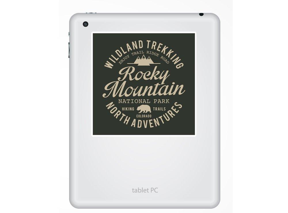 2/x Rocky Mountain Vinyl Aufkleber Reise Gep/äck # 10515-10cm//100mm Wide