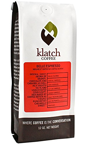 "Klatch Coffee ""Belle Espresso"" Medium Roasted Whole Bean Coffee - 2 Pound Bag"