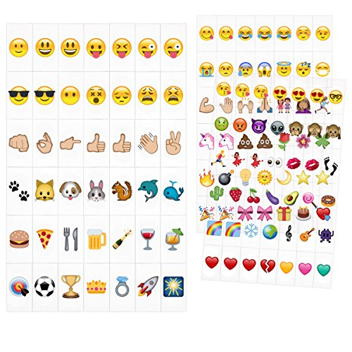 kwmobile Emoji Light Box Cards 126 Tiles - A4 Size for LED Marquee Cinema Sign Color Emoji Symbols Hearts Smiley Faces Animals and More
