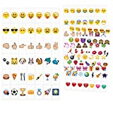 kwmobile Emoji Light Box Cards 126 Tiles - A4 Size LED Marquee Cinema Sign Color Emoji Symbols Hearts Smiley Faces Animals More