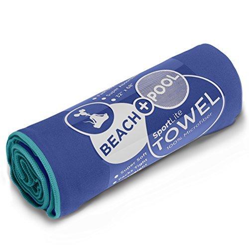 """YogaRat SportLite Beach Towel, 100% Microfiber, 32"""" x 68"""""""