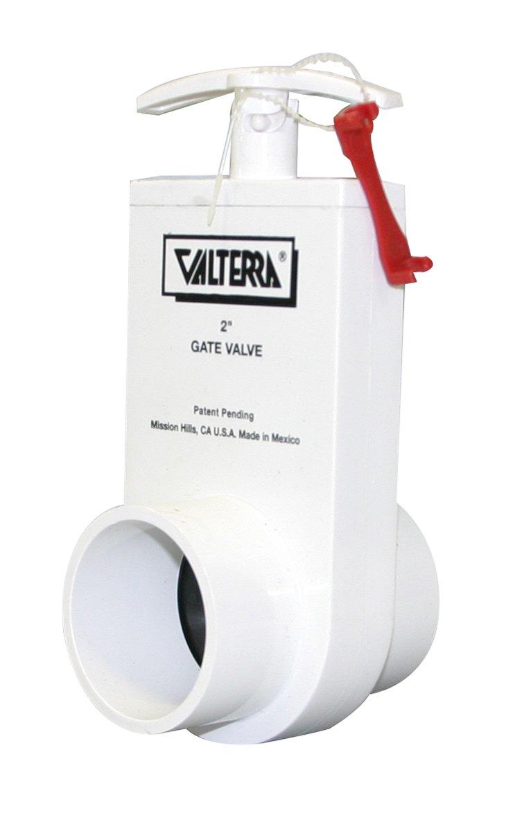 """B00B95TE52 Valterra 2203X PVC Unibody Gate Valve, White, 2"""" Spigot w/Gate Keeper 51V-JvT1x7L"""